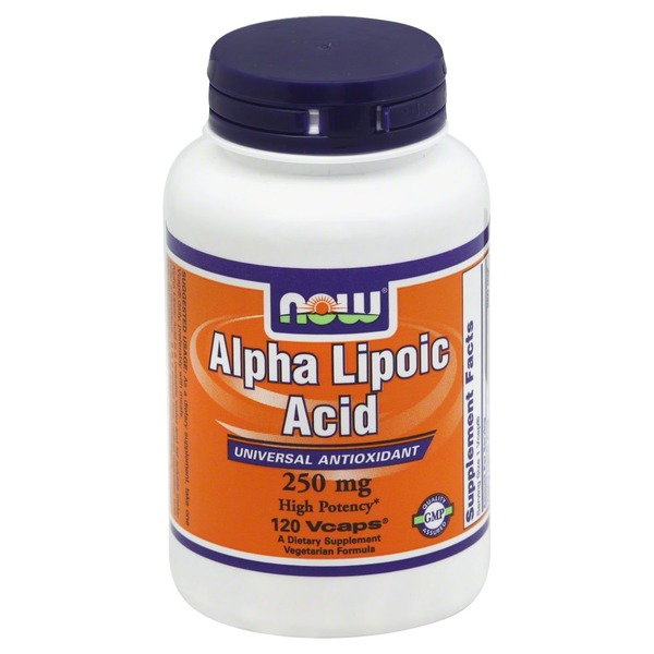 Now Alpha Lipoic Acid, 250mcg, Vcaps, Bottle