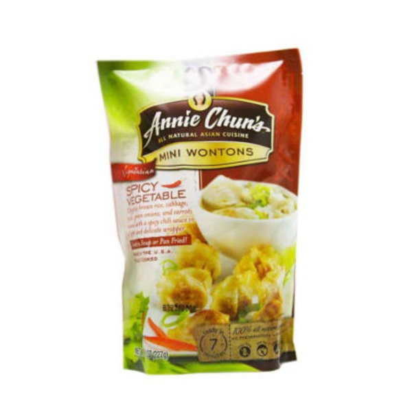 Annie Chuns Hot Spicy Vegetable Mini Wontons