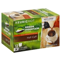 Green Mountain Coffee K-Cup Pods Medium Roast Half-Caff - 12