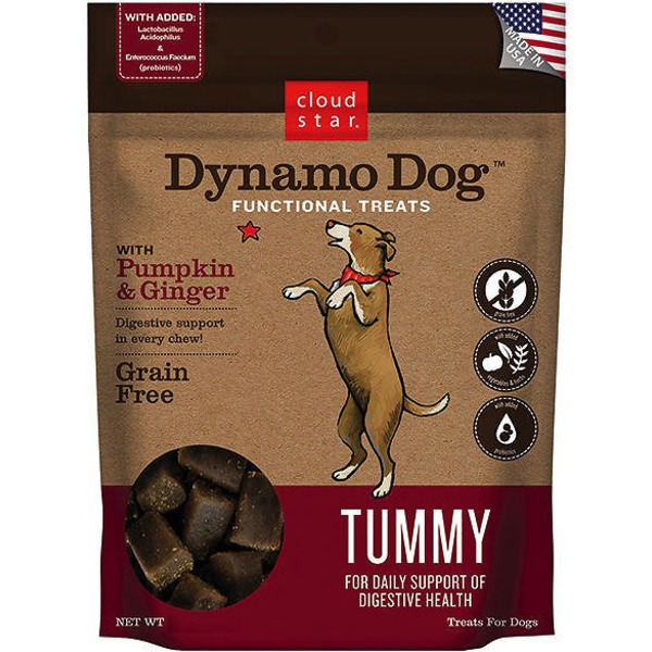 Cloud Star Dynamo Dog Tummy Support Soft Chews With Pumpkin Ginger