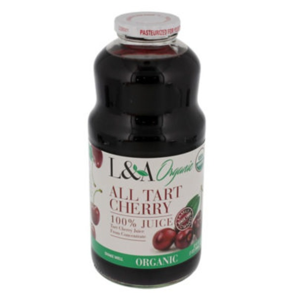L&A Juice Organic All Tart Cherry 100% Juice