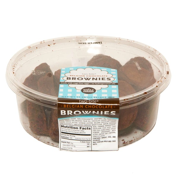 Whole Foods Market Two Bite Belgian Chocolate Brownies