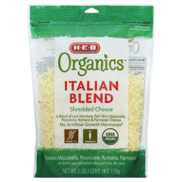H-E-B Organics Shredded Italian Cheese Blend