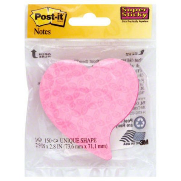 Post-it Heart Super Sticky Notes - 2 PK
