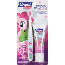 My Little Pony Toddler Training Toothpaste - Pinkie Fruity and Toothbrush, 1.0oz