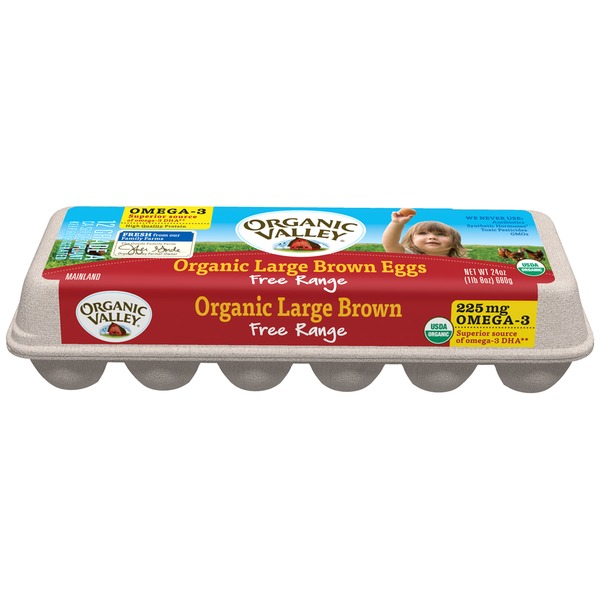 Organic Valley Omega-3 Organic Large Brown Eggs Eggs