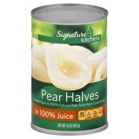 Signature Kitchens Bartlett Pear Halves Lite in Pear Juice from Concentrate