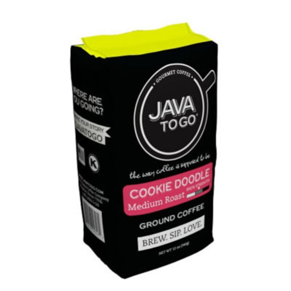 Java To Go Gourmet Cookie Doodle Medium Ground Coffee