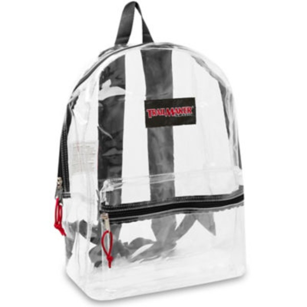 Trailmaker Clear Backpack, Assorted Colors
