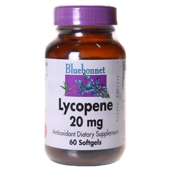 Bluebonnet Lycopene 20mg Antioxidant Dietary Supplement 60 Softgels