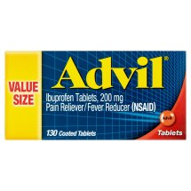 Advil (130 Count) Pain Reliever / Fever Reducer Coated Tablet, 200mg Ibuprofen, Temporary Pain Relief