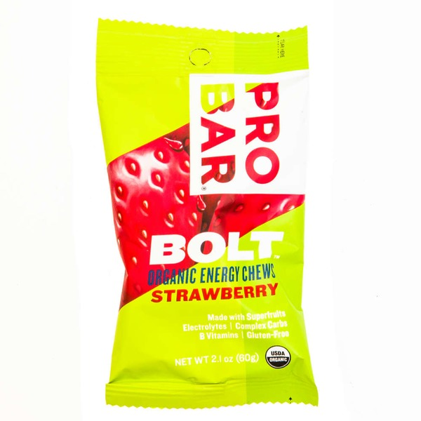 Bolt Organic Strawberry Energy Chews