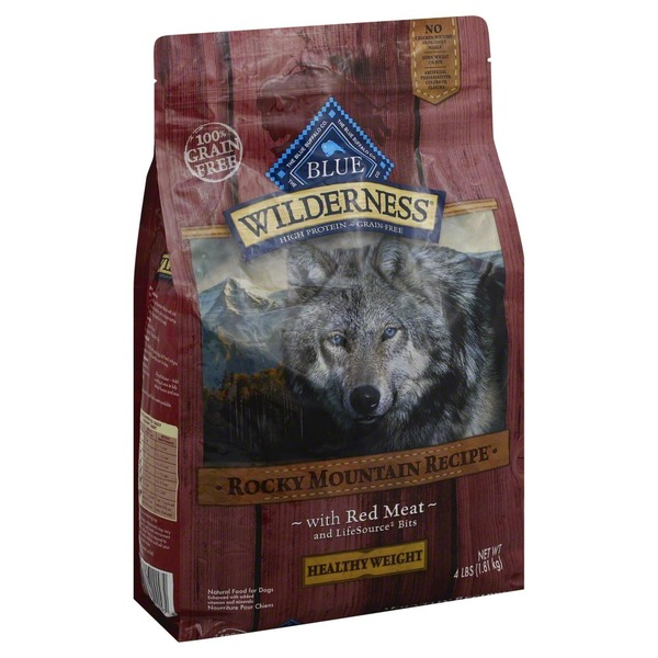 Blue Buffalo Dog Food, Dry, Red Meat, Life Source Bits, Rocky Mountain Recipe, Healthy Weight, Bag