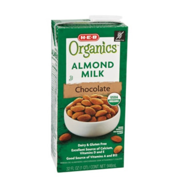 H-E-B Chocolate Organic Almond Milk