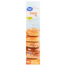 Great Value Twist Tie Food Storage Bags, Extra Large, 100 Count