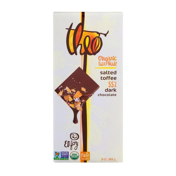 Theo Salted Toffee 55% Dark Chocolate