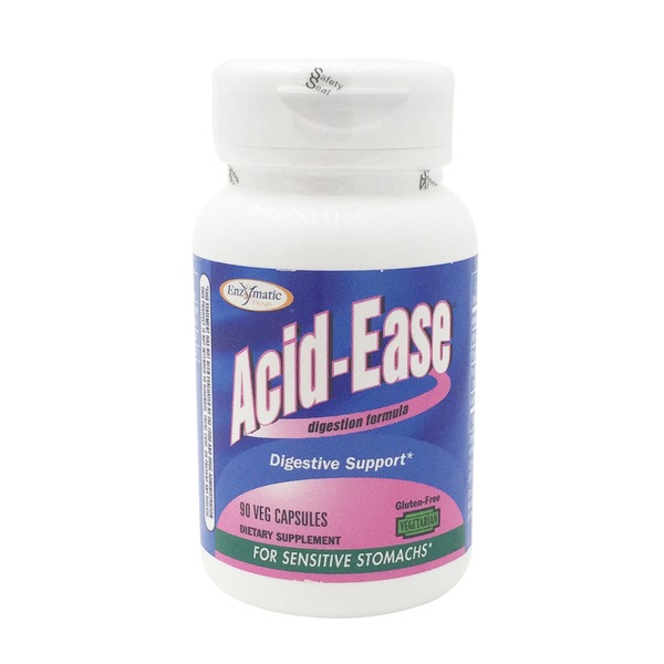Enzymatic Therapy Acid-Ease, Veg Capsules
