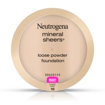 Neutrogena Mineral Sheers Loose Powder Foundation, Classic Ivory 10, .19 Oz