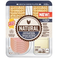Oscar Mayer Natural Hickory Smoked Uncured Ham & Monterey Jack Meat & Cheese Plates