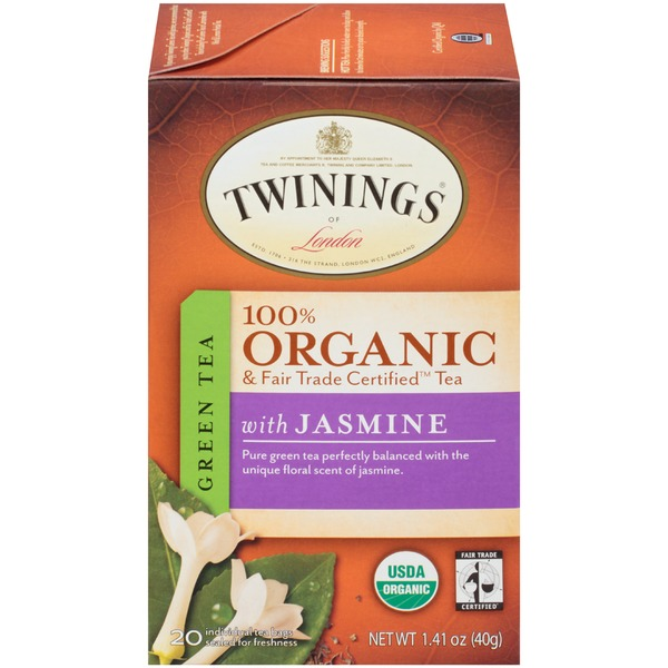 Twinings Organic & Fair Trade Certified Green Tea with Jasmine