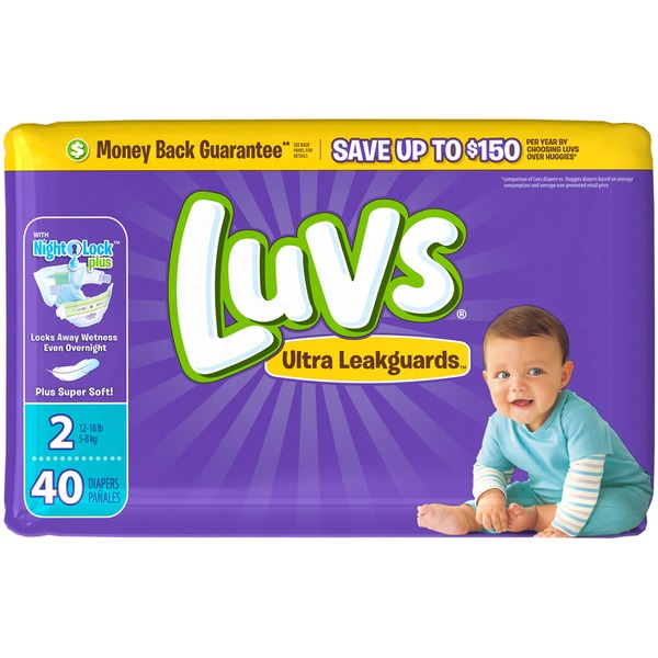 Luvs Ultra Leakguards Diapers Size 2 40 count Diapers