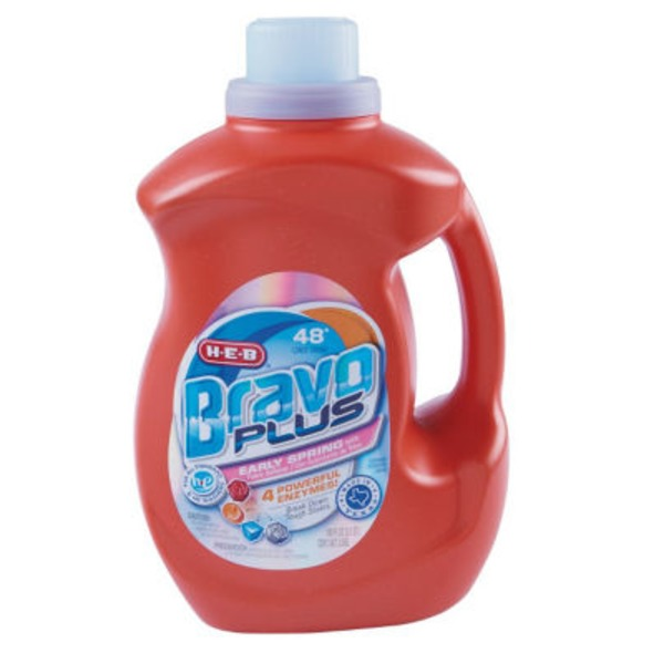 H-E-B Bravo Plus Liquid Laundry Detergent Early Spring 48 Loads
