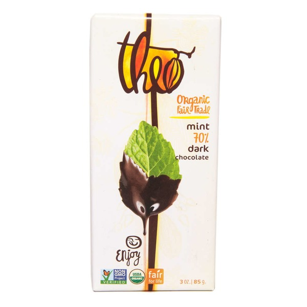 Theo Mint 70% Dark Chocolate Bar