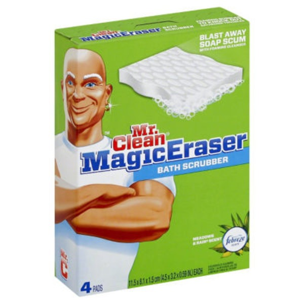 Mr. Clean Magic Eraser Bathtub Cleaner & Scrubber Sponge 4ct. Surface Care