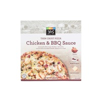 365 Chicken & BBQ Sauce Thin Crust Pizza