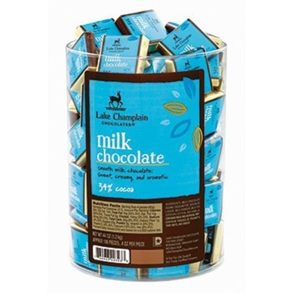 Lake Champlain Chocolates Organic Milk Chocolate Squares 34% Cocoa
