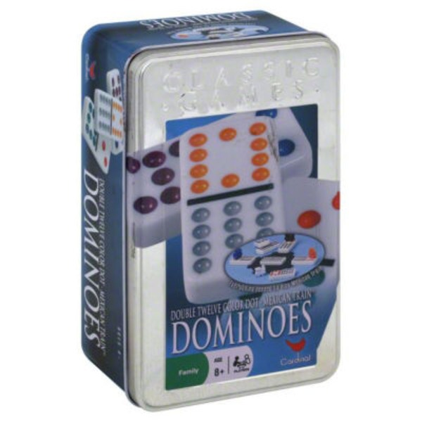 Cardinal Double 12 Color Dot Mexican Train Dominoes