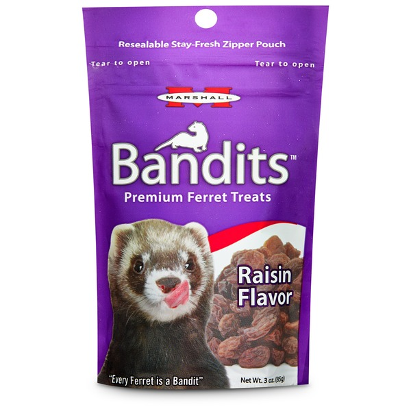 Marshall Pet Products Bandits Premium Raisin Ferret Treats 3 Oz.