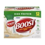 BOOST HIGH PROTEIN Complete Nutritional Drink, Vanilla Delight, 8 fl oz Bottle, 12 Pack