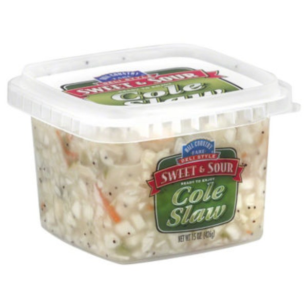Hill Country Fare Deli Style Sweet And Sour Cole Slaw