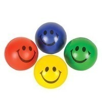 2 For 5 Smiling Face Plush Ball 4 Assortment