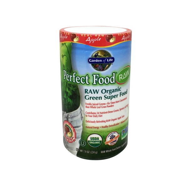 Garden of Life Apple Flavored Perfect Food Raw Organic Green Super Food