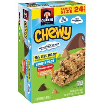 Quaker Chewy Granola Bars, Family Size Variety Pack, 24 Bars