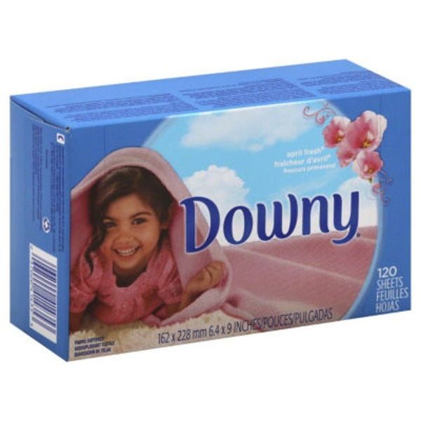 Downy April Fresh Fabric Softener Dryer sheets 120 count Fabric Enhancers