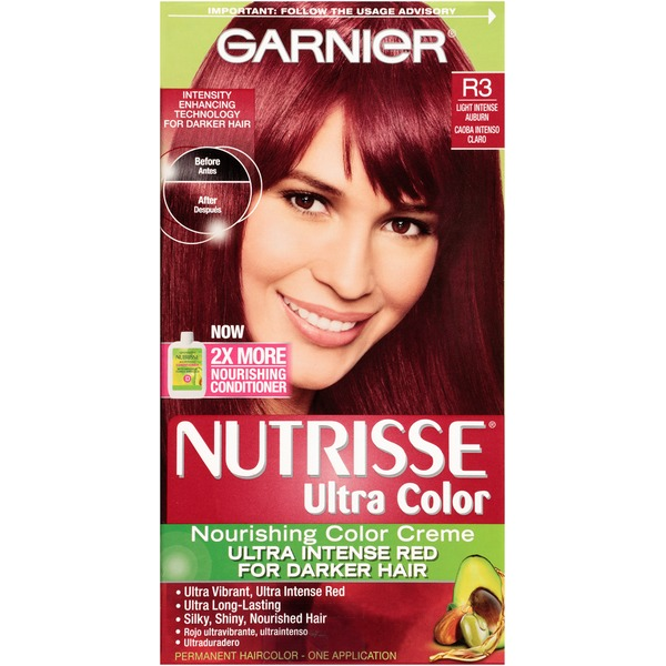 Nutrisse® Ultra Color Nourishing Color Creme R3 Light Intense Auburn Haircolor