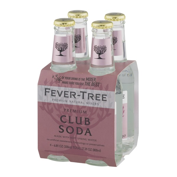 Fever-Tree Premium Natural Mixers Club Soda - 4 CT