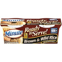 Minute Rice Ready to Serve Brown & Wild 4.4 Oz Rice