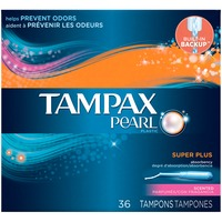 Tampax Pearl Tampax Pearl Plastic Super Plus Absorbency, Scented Tampons 36 Count  Feminine Care
