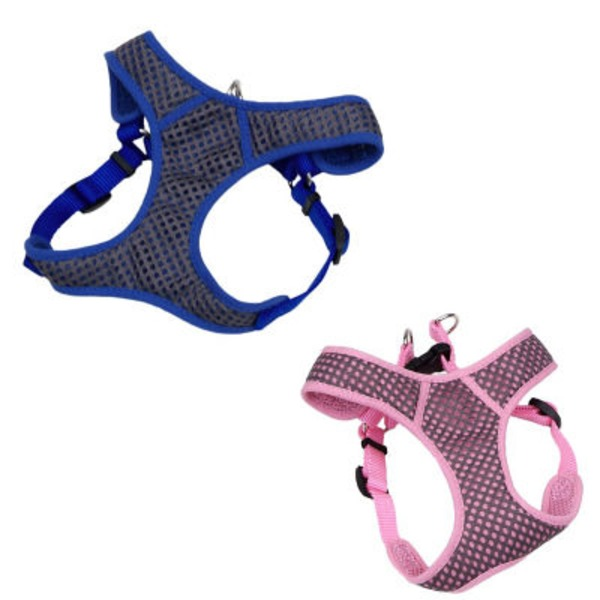 Coastal Pet Small Pet Products Comfort Soft Blue Sport Wrap Adjustable Harness