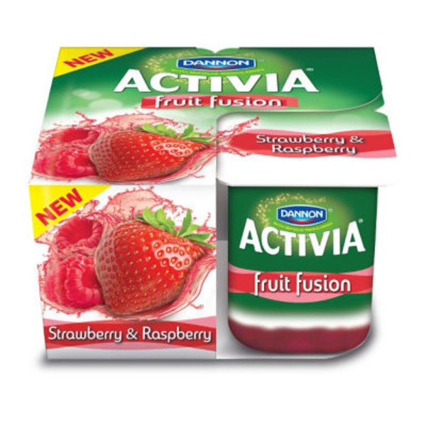 Activia Fruit Fusion Fruit Fusion Strawberry/Raspberry Lowfat Probiotic Yogurt