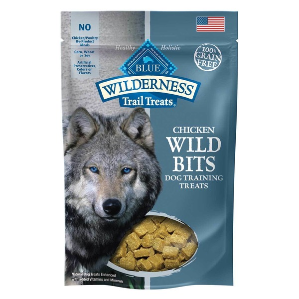Blue Buffalo Wilderness Wild Bits Chicken Recipe Dog Training Treats