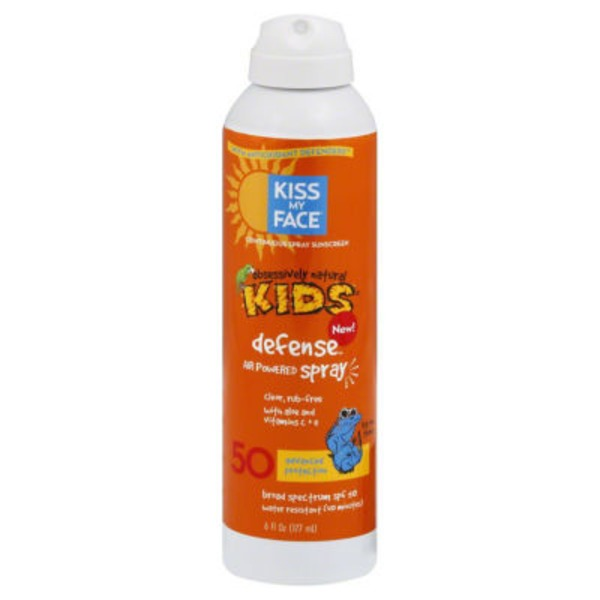 Kiss My Face Obsessively Natural Kids Defense Spray Sunscreen SPF 50