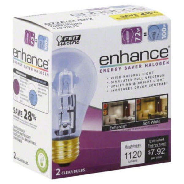 Feit Electric Halogen Clear 72W Light Bulb