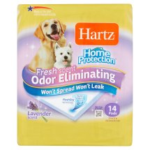 Hartz Home Protection Fresh Scent Odor Eliminating Lavender Scent Dog Pads, 14 count
