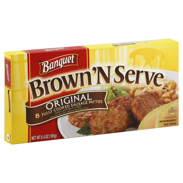 Banquet Brown 'n Serve Sausage Patties, Original
