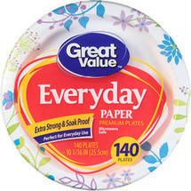 Great Value Everyday Paper Premium Plates